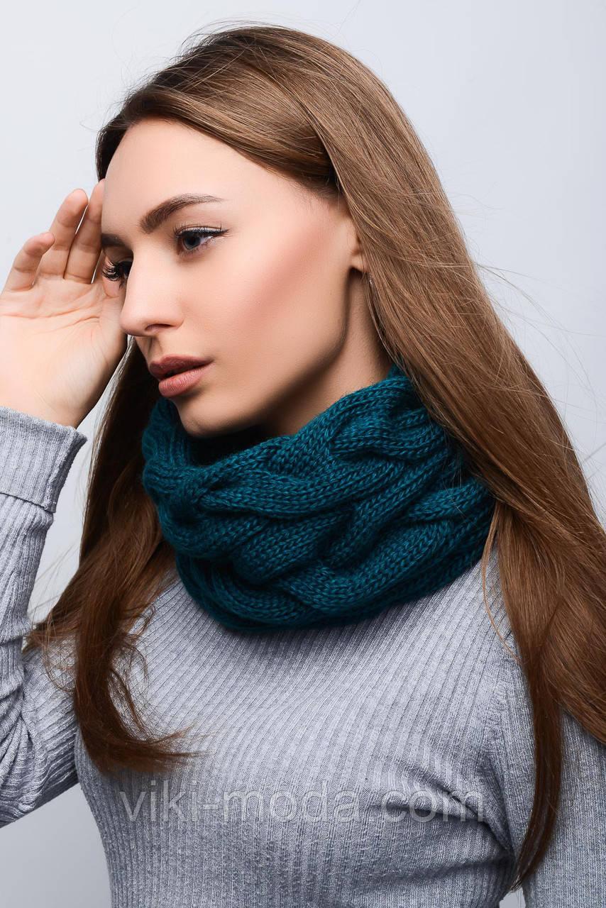 Однотонный теплый снуд - труба - Оптово - розничный магазин одежды viki-moda  в Киеве 4ca4bfa93bd