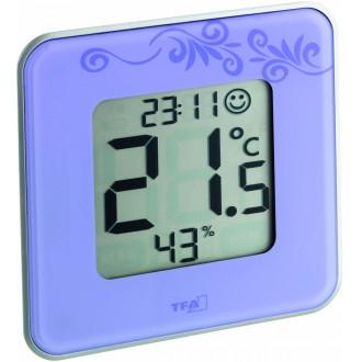 Термогигрометр цифровой TFA Style, 104x104x13 мм, фиолетовый (30502111)