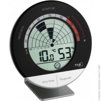 """Термогигрометр цифровой TFA 305032  """"Mould Radar"""", 98x23x98 мм"""
