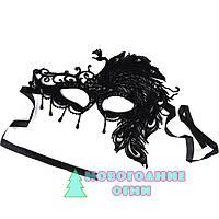 Ажурная карнавальная маска Леди