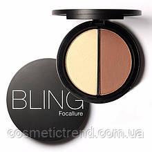 Focallure Хайлайтер/бронзер Ice Queen/Tan палитра для макияжа 2х1Bling №01