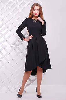 Платье женское Ассиметричное Черное Размер М