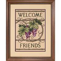 """Набор для вышивания Dimensions """"Добро пожаловать друзья//Welcome Friends"""" 13733"""
