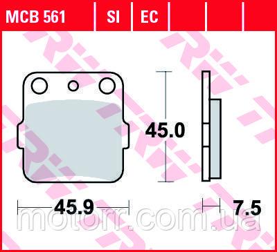 Тормозные колодки TRW / LUCAS MCB561SI