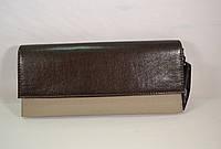 Красивый коричневый c серым клатч Польша Karen KL-05