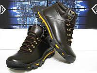 Зимние ботинки кожаные  на шнурках PRIME