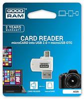 Кардридер Goodram USB microSD Card reader OTG USB 2.0/micro-USB
