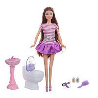 """Кукла с аксессуарами """"В ванной комнате"""" DEFA"""