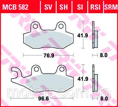 Тормозные колодки TRW / LUCAS MCB582SI