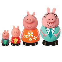 """Развивающие и обучающие игрушки «Peppa Pig» (25068) набор игрушек-брызгунчиков """"Семья Пеппы"""", 4 фигурки"""