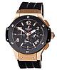 Часы мужские наручные hublot big bang chronograph ceramica black/gold-black sm-1012-0137 aaa copy sk (реплика) - Фото