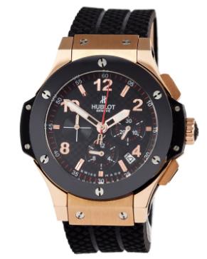 Часы мужские наручные hublot big bang chronograph ceramica black/gold-black sm-1012-0137 aaa copy sk (реплика)