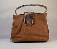 Коричневая сумочка на плечо  из кожзама PAOLOBAGS J-1702
