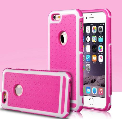 Противоударный розовый чехол для iPhone 6/6S