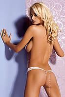 Трусики-стринги Obsessive Armena thong white, фото 1