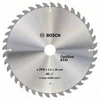 Пила дисковая по дереву  BOSCH 254x30x40z Optiline ECO