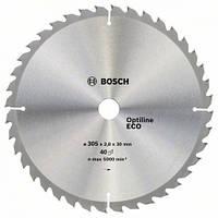 Пила дисковая по дереву  BOSCH 305x30x40z Optiline ECO