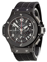 Часы мужские наручные hublot chronograph ceramica all black sm-1012-0211 aaa copy sk (реплика)