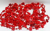 Бусы для елки снежок G23-7 (красный) упаковка 5м