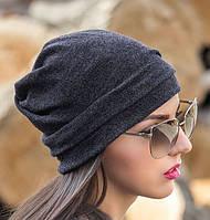 Женская шапка с драпировкой.