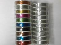 Проволока цветная 0,3мм для бижутерии, упаковка 10 мотков по 25 ярдов, ассорти цветов