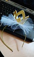 """Ободок для волос с короной """"Яркая Принцесса"""""""