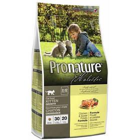 Pronature Holistic с курицей и бататом сухой холистик корм для котят, 0,34 кг