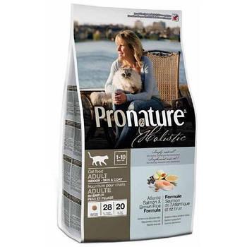 Сухой корм Pronature Holistic с атлантическим лососем и коричневым рисом для котов, 2,72 кг