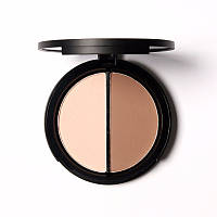 Хайлайтер Golden Shimmer/бронзер Toffee палитра для макияжа 2х1 Bling Focallure Highlight&Contour №02