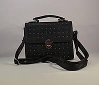 Женская стильная черная сумка не плечо  из кожзама AVAVA 18