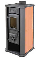 Печь-камин Tim Sistem Diana 7 кВт с керамическими панелями