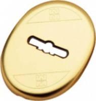 Накладка на сувальдный замок овальная 95.323 (латунь), 1 шт