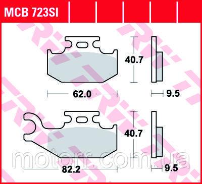 Тормозные колодки TRW / LUCAS MCB723SI