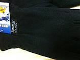 Мужские двойные чёрные перчатки из флиса, фото 3