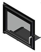 Двери для камина Kratki Maja/Antek (прямое стекло)