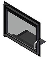 Двери для камина Kratki Zuzia/Eryk (прямое стекло)