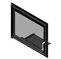 Двери для камина Kratki Amelia/Felix (прямое стекло)