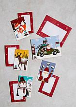 Новогодние открытки с конвертами, 25 шт