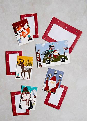 Новогодние открытки с конвертами, 25 шт, фото 2