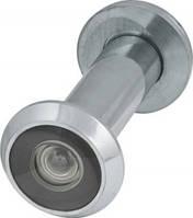 Глазок дверной, пластиковая оптика DV2, 16/55х85 CP Хром