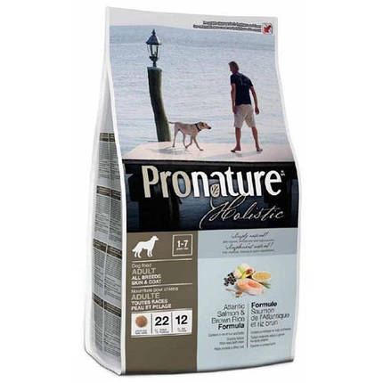 Pronature Holistic Adult Atlantic Salmon&Brown Rice сухой холистик корм для собак всех пород, 13,6 кг, фото 2