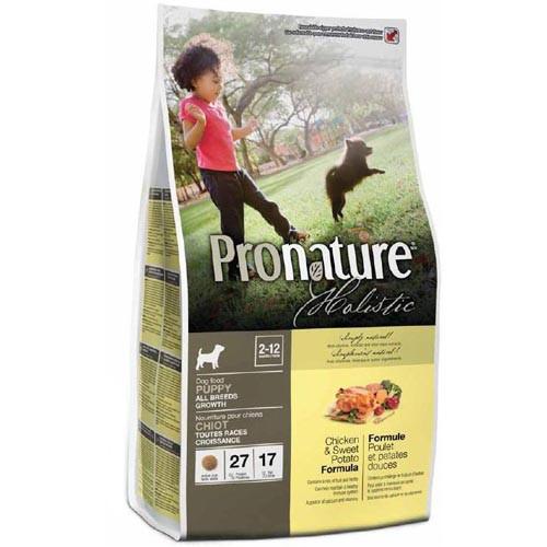 Сухой корм Pronature Holistic Puppy Chicken&Sweet Potato для щенков всех пород, 13,6 кг