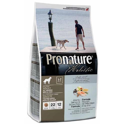 Pronature Holistic Adult Atlantic Salmon&Brown Rice сухой холистик корм для собак всех пород, 0,34 кг