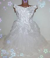 Платье нарядное на девочку 3-7 лет, Снежинка 1, белое