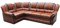 """Раскладной кожаный угловой диван  """"Данко"""". (275*190 см)"""