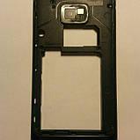 Средняя часть корпуса для Samsung i9100 Galaxy s2 оригинал б/у  black, фото 2