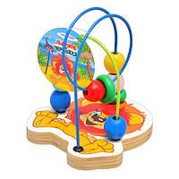 Деревянная игрушка Лабиринт GT5937 на проволоке, Союзмультфильм, Львенок, 15-13см