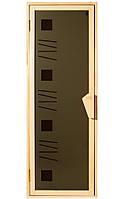 Стеклянная дверь для сауны Tesli Alfa art  67,8x188