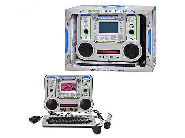 Детский ноутбук MD 8859 E/R 160 функций, микрофон, мышка, диск, от сети