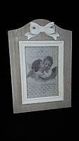 Настольная рамка для фото в винтажном стиле, деревянная, с лепкой, 25х17 см., 160/130 (цена за 1 шт. + 30 гр.)